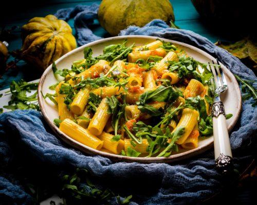 Squash and basil pasta