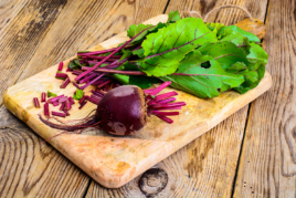 Leafy Beetroot Salad with Horseradish Dressing