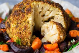 Roasted, Stuffed Cauliflower