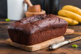 Fair Trade banana, molasses and rum loaf