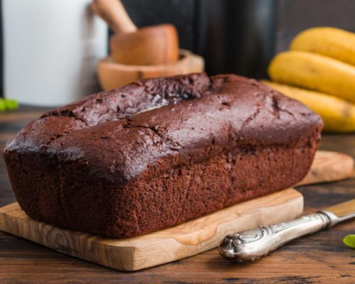 Fair Trade banana, molasses and rum loaf