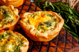 Courgette and Green Bean Mini Quiches