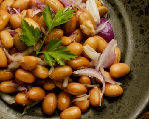 Warm Fresh Borlotti Bean Salad