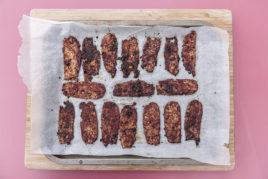 Vegan tempeh salami