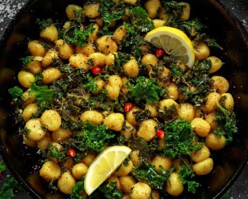 Kale and wild garlic gnocchi