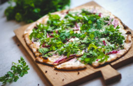 Wild Garlic and Beetroot Pizza