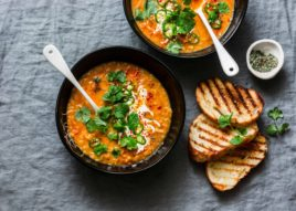 Carrot and pea curry