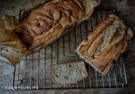 Banana Bread with Roast Chestnuts