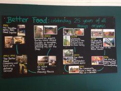 Better Food journey - artists wall