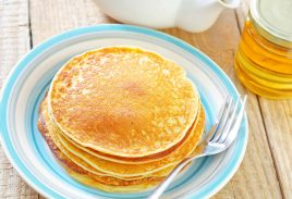 Scotch Pancakes with Almond Butter and Local Honey