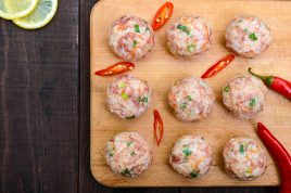 Pork, lemon and fennel seed meatballs