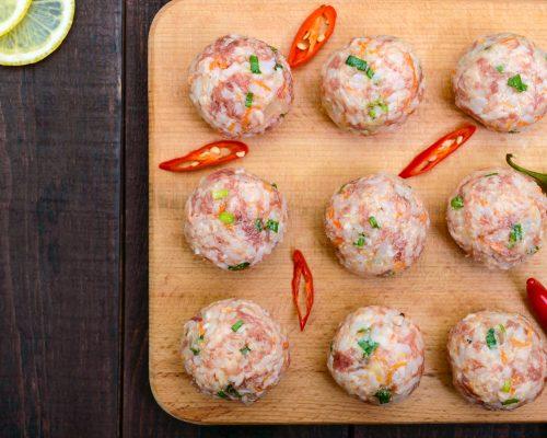 Pork, lemon and fennel seed meatballs
