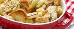 Savoury Leek and Sourdough Bread Pudding