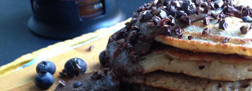 Buckwheat and polenta pancakes